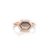 LA Kaiser Smoky Quartz Rose Gold Ring