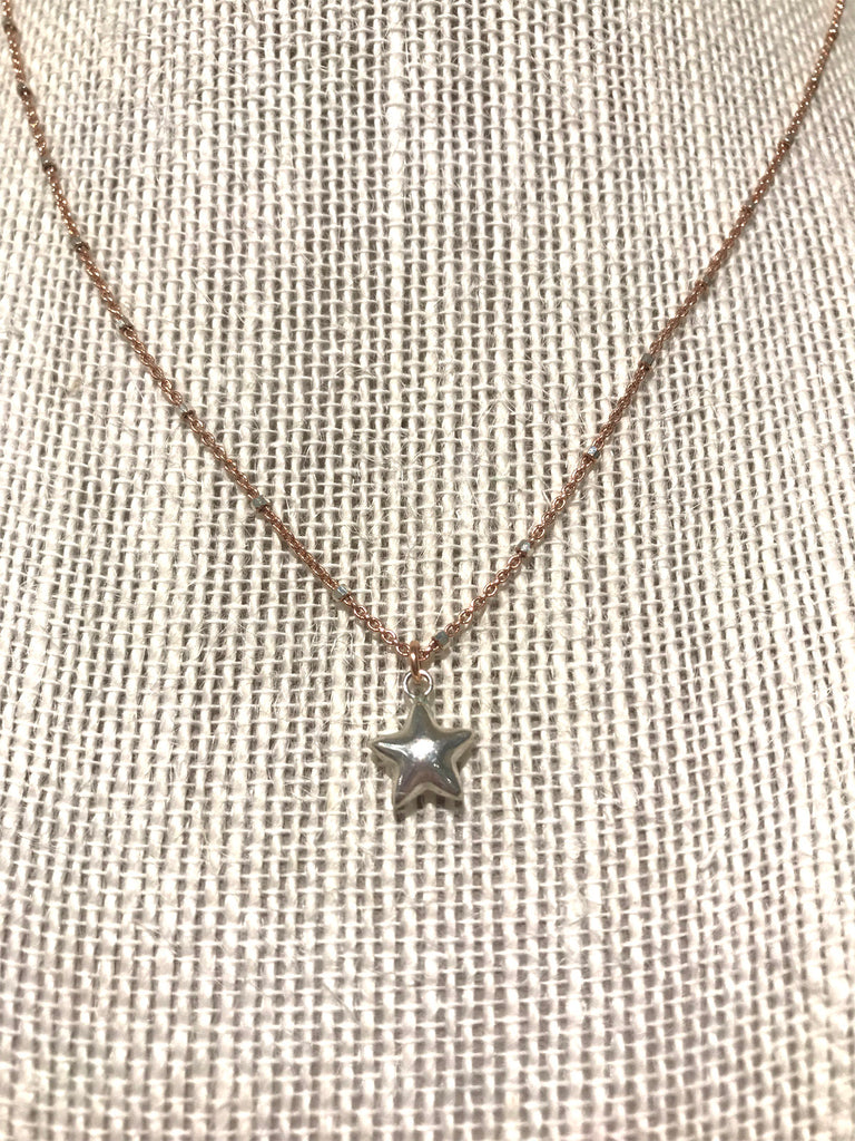 Delicate Sterling Star Necklace