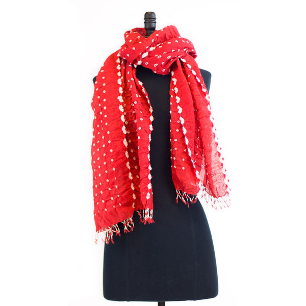 Arlequin Scarf - Coral