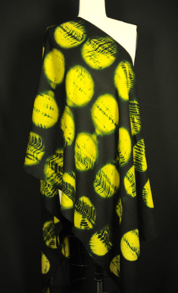 Merino Wool Yellow XRAY Dot Scarf
