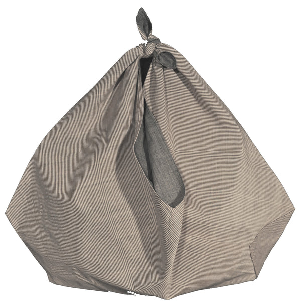 Cotton Bag Origami Stripe Grey/Tan