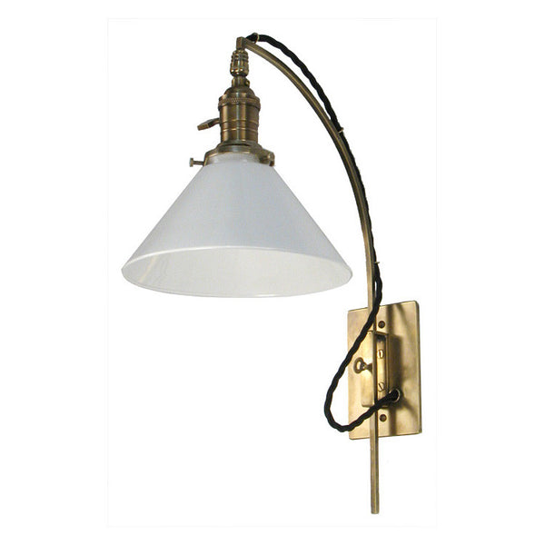 Reproduction - Adjustable Brass Wall Light