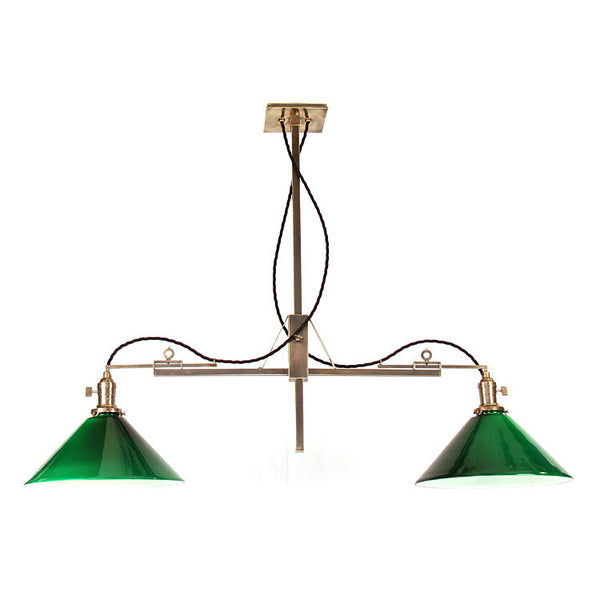Reproduction - Adjustable Brass Billiard Light