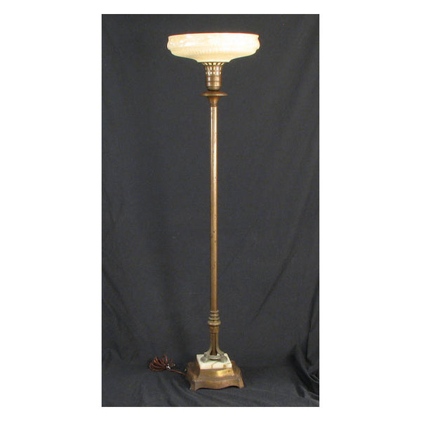 Torchier Floor Lamp with Marble Base