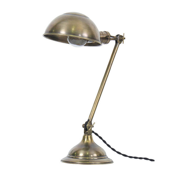 Reproduction - Adjustable Brass Desk Lamp