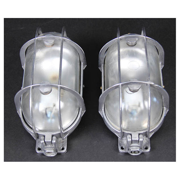 Pair Aluminum Bulkead Lights with Plastic Lenses