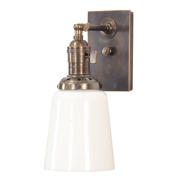 Reproduction - Adjustable Pin Arm Wall Light with Cast Vented Holder