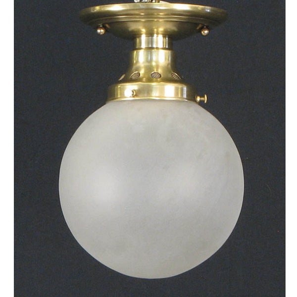 Small Vintage Frosted Globe with New Vented Fixture