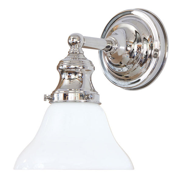 Reproduction - Wall Light with Opal Bell Shade