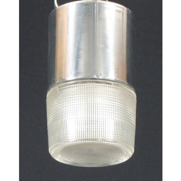 Small Ceiling Light with Prismatic Glass