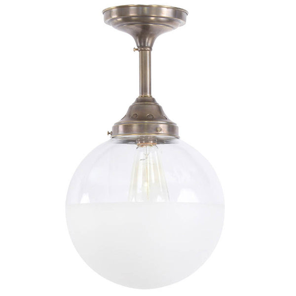 Reproduction - Half Frosted Globe with Vented Holder