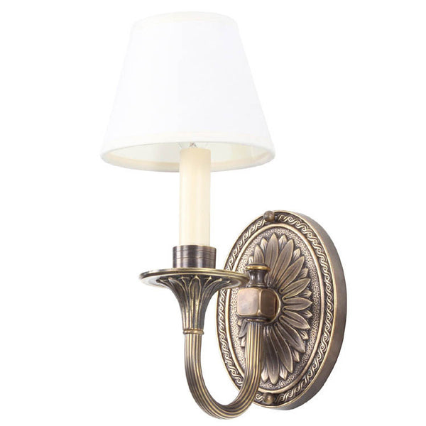 Reproduction - Cast Brass Wall Light with Reeded Arm