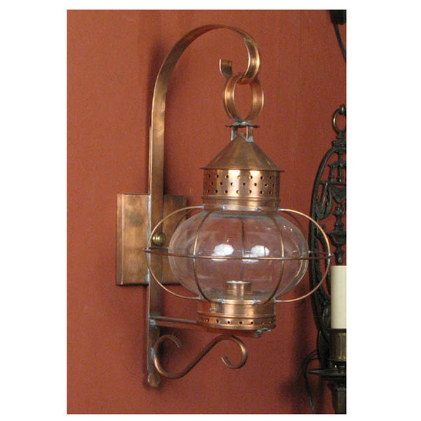 Copper Onion Glass Wall Lantern - Small