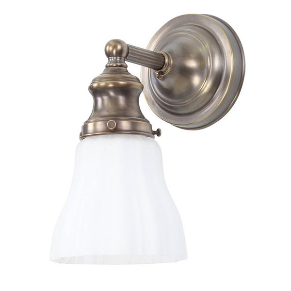 Reproduction - Brass Wall Light with Reeded Arm