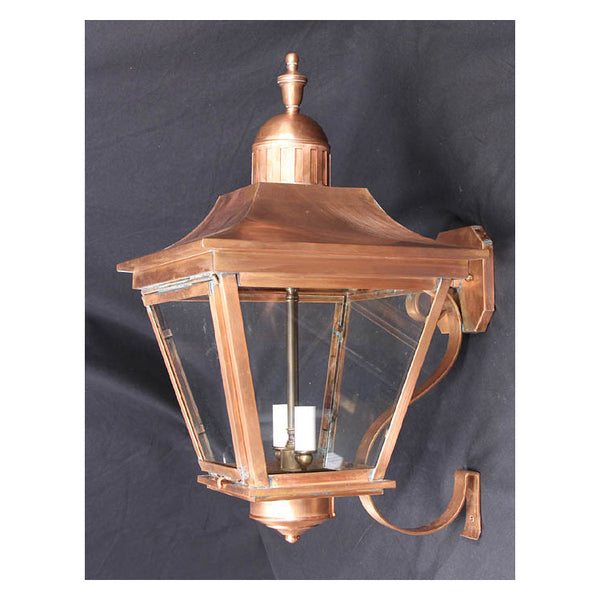 Reproduction - Large Alford Copper Wall Lantern