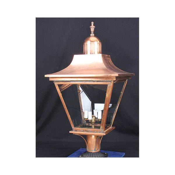 Reproduction - Alford Copper Post Lantern