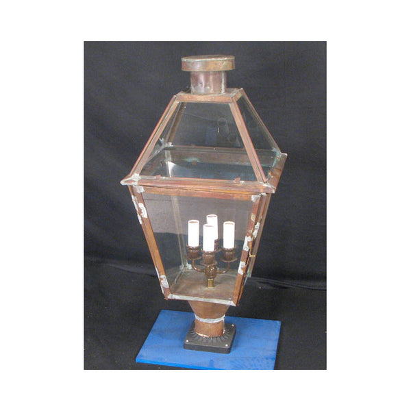 Vintage Copper Post Lantern