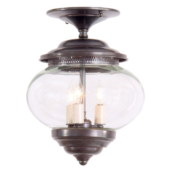 Reproduction - Small Onion Glass Ceiling Light