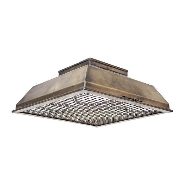 Reproduction - Industrial Flush Mount with Caged Bottom