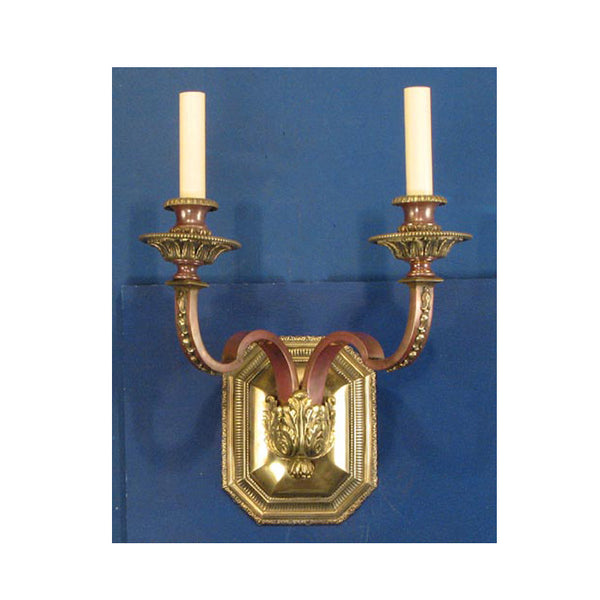 Single Two Arm Wall Light