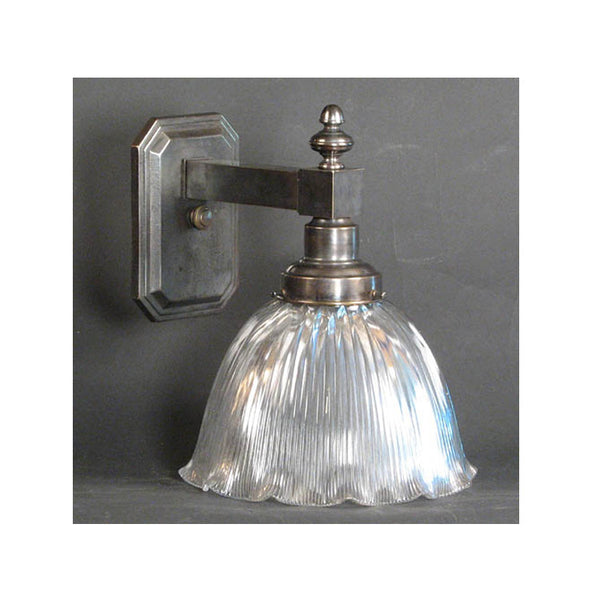 Wall Light with Large Holophane Shade