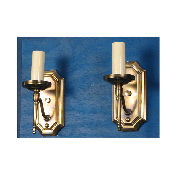Single Arm Brass Wall Lights