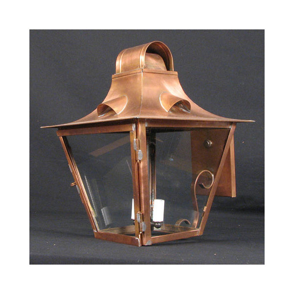 Reproduction White Hart Copper Wall Lantern