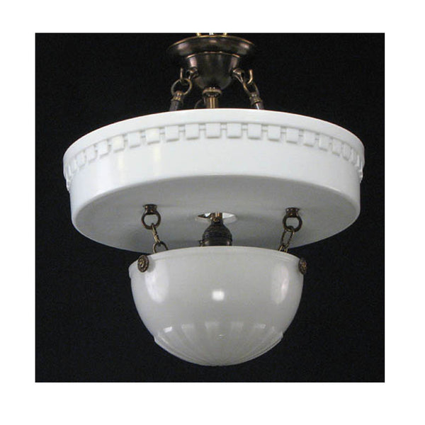 Two Piece Brascolite Ceiling Fixture