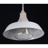 Pair Benjamin Vapor Proof Pendant with White Enamel Shade