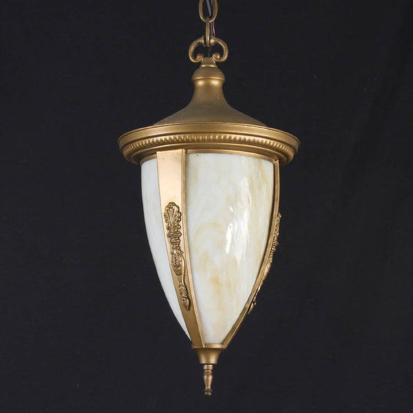 Decorative Curved Slag Glass Ceiling Light