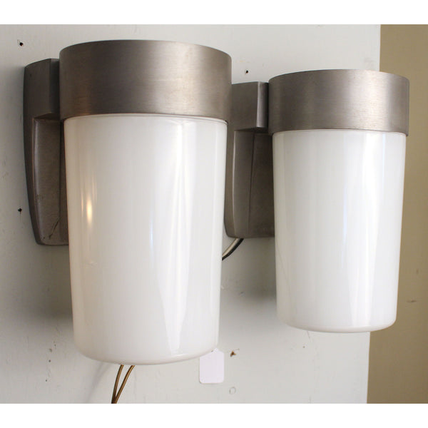 Pair Large Industrial Wall Lights