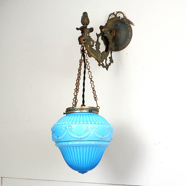 Ornate Decorative Wall Light w/ Original Shade