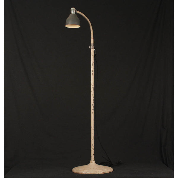 Industrial Floor Lamp with Adjustable Goose Neck