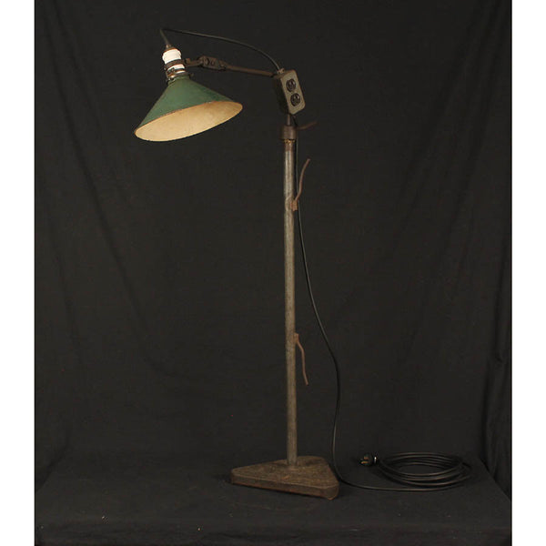 Industrial Floor Lamp with Triangle Base