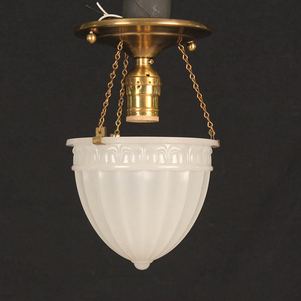 Camphor Glass Ceiling Light w/ New Hardware
