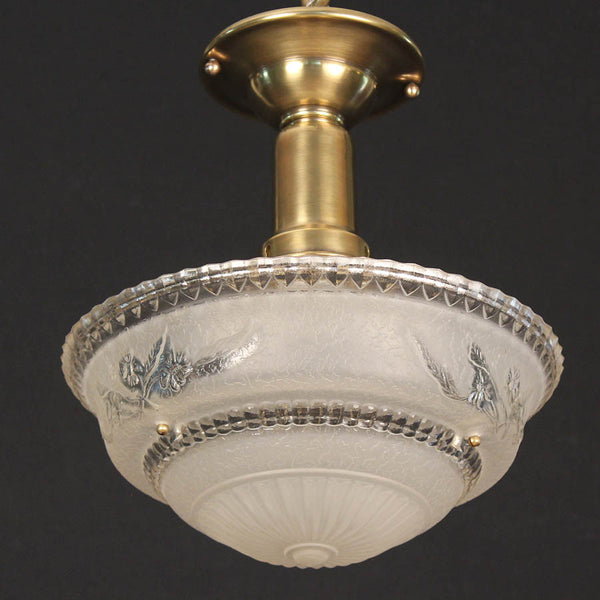 Beaded Chain Cast Glass Ceiling Light