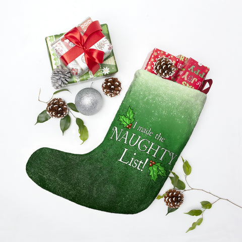 Naughty List Christmas Stocking