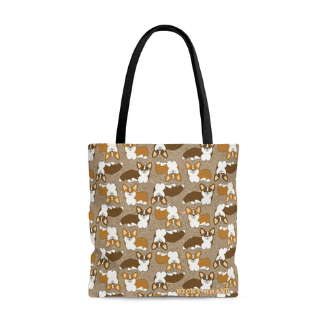 Corgi Crazy Tote Bag - Nutmeg