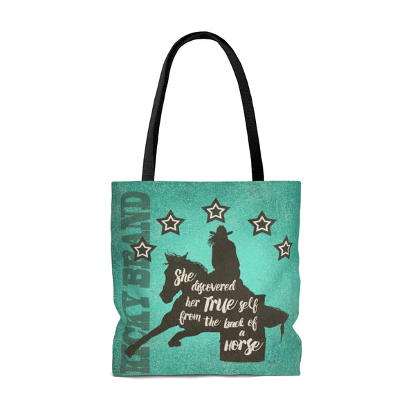 """Her True Self"" Barrel Racer Tote Bag"