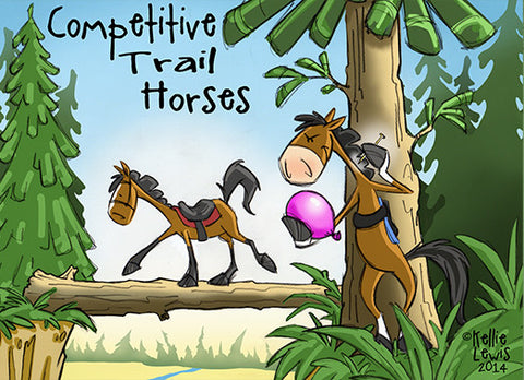 Competitive Trail Horse Greeting Card