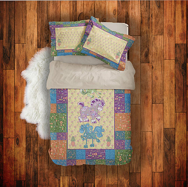 Top shot of Equifauna horse duvet