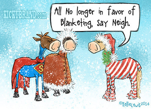 No More Blankets Holiday Card