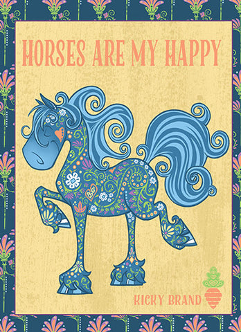 Horses are my Happy Greeting Card