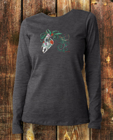 Sugar Horse in Charcoal Long Sleeved
