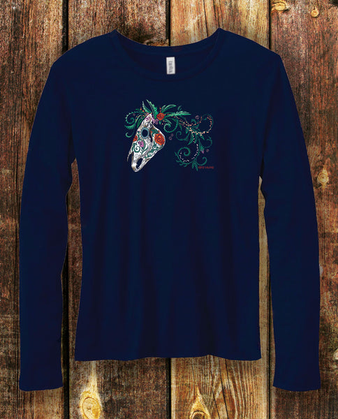 Sugar Horse in Navy Long Sleeved