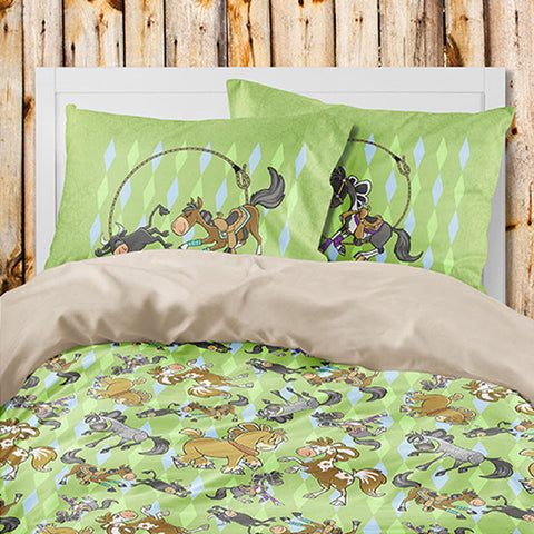 Sport Horse Duvet and Shams