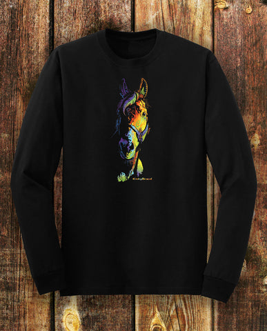 Equifunk Horse Tee Unisex Long Sleeves Black