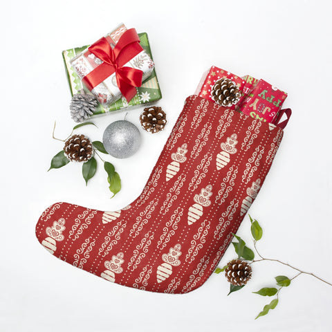 White Carrot Christmas Stocking