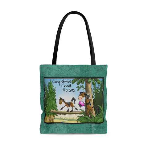 Competitive Trail Horse Tote Bag