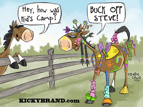 Buck off Steve, Kid's Camp Cartoon Card
